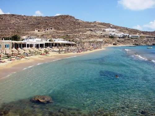 пляж Paradise Beach, Миконос
