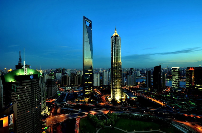 Ночной Шанхай, Китай