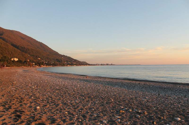 Пляжи Сухума