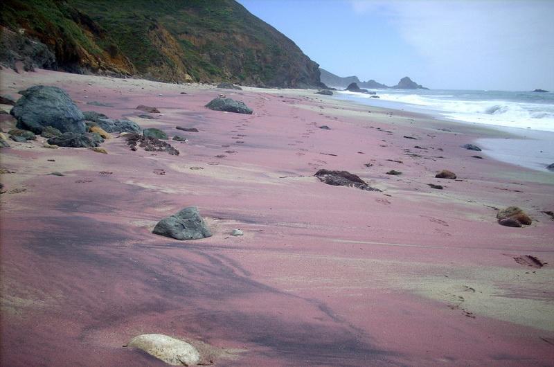 Pfeiffer Beach. США, Калифорния