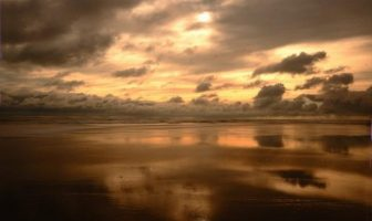 Закат на пляже Кокс Базар