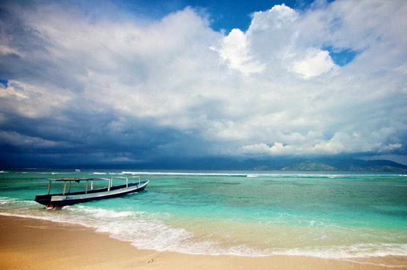 Остров Гили Траванган в Индонезии. Недалеко от острова Ломбок и Бали
