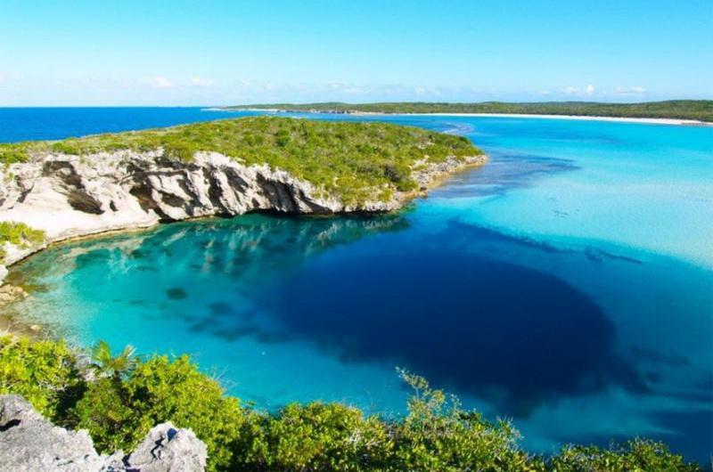 Голубая дыра Дина, Багамы