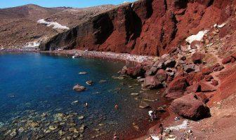 Красный пляж на Санторини