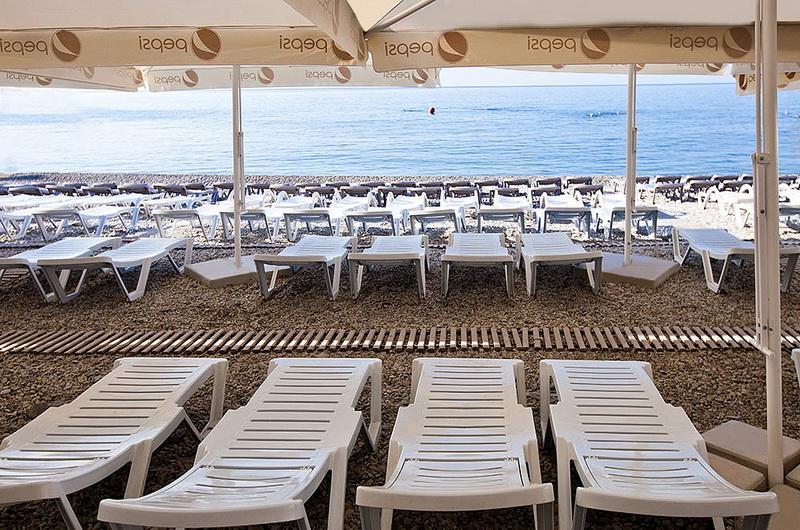 Пляж отеля Ялта-Интурист