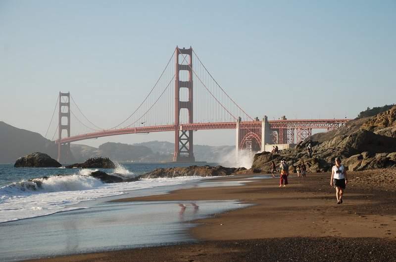 Пляж Бейкер Бич. Сан-Франциско, США