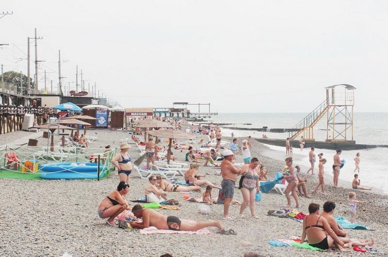 Пляж Курортного городка Адлера