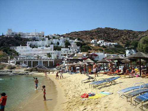 Milipotas beach, Иос