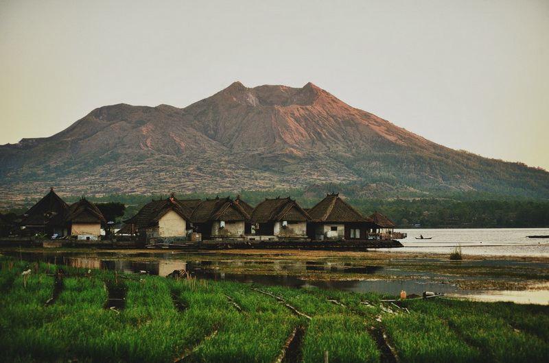Бали рисовые поля и вулканы