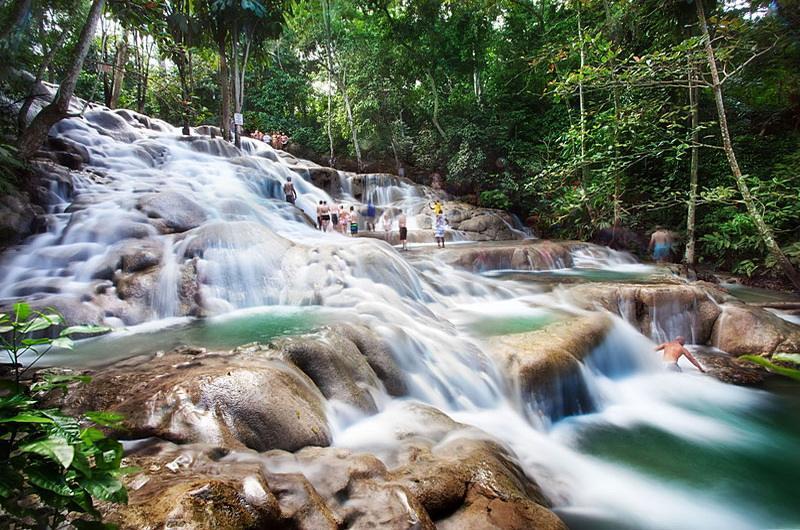 Ямайка водопад Данс Ривер