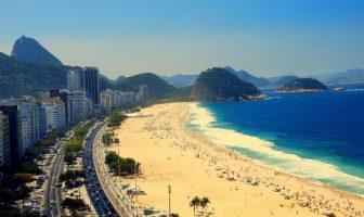 Пляж Копакабана (Copacabana Beach) в Бразилии