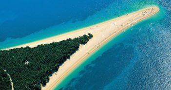 Пляж Золотой Рог, Хорватия