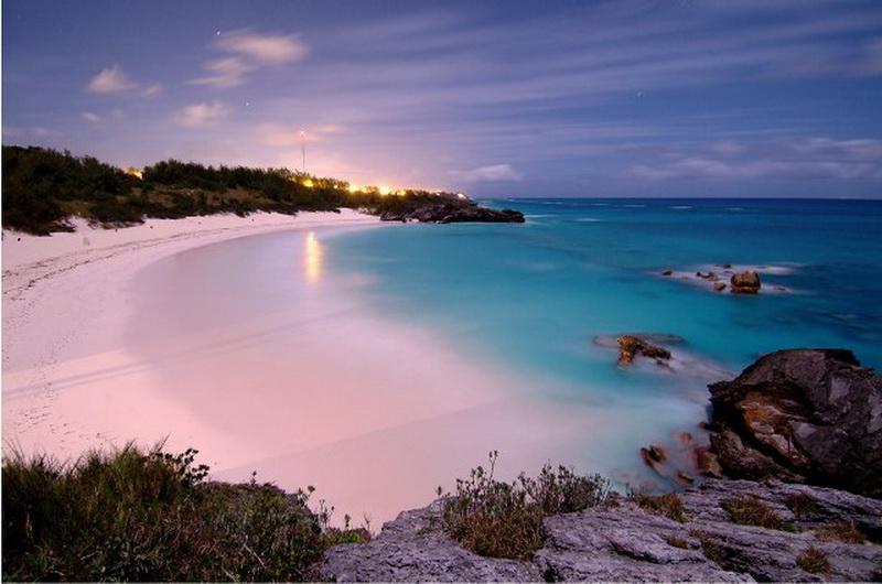 Pink sands beach, Багамы