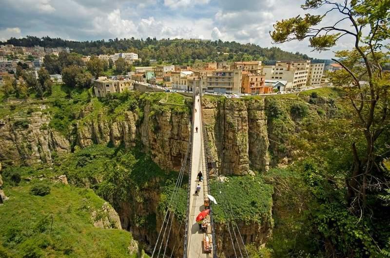 Подвесной мост Сиди Мсид, Константина, Алжир