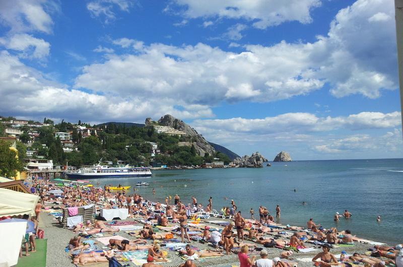 Пляж Гурзуфа