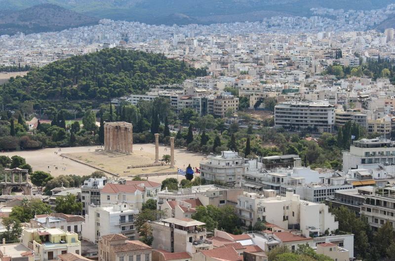 Вид на храм Зевса и Афины