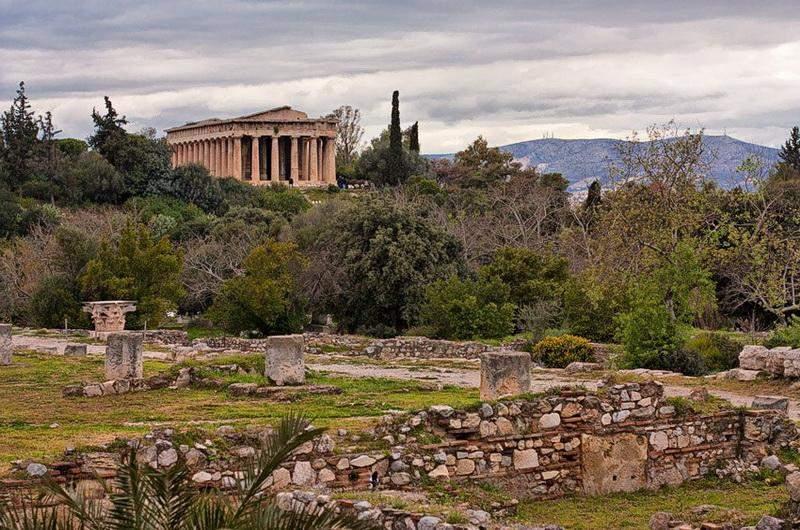 Агора и храм Гефеста