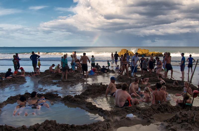 Коромандел, Пляж Hot Water Beach