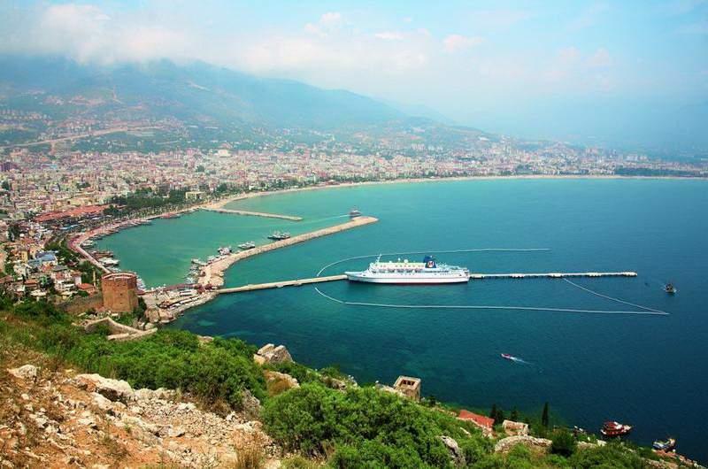 Алания, Красная башня, крепость сельджуков и порт