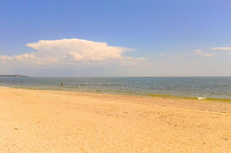 Пляж в Коблево