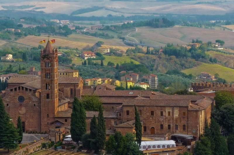 Вид на Сиену, Тоскана