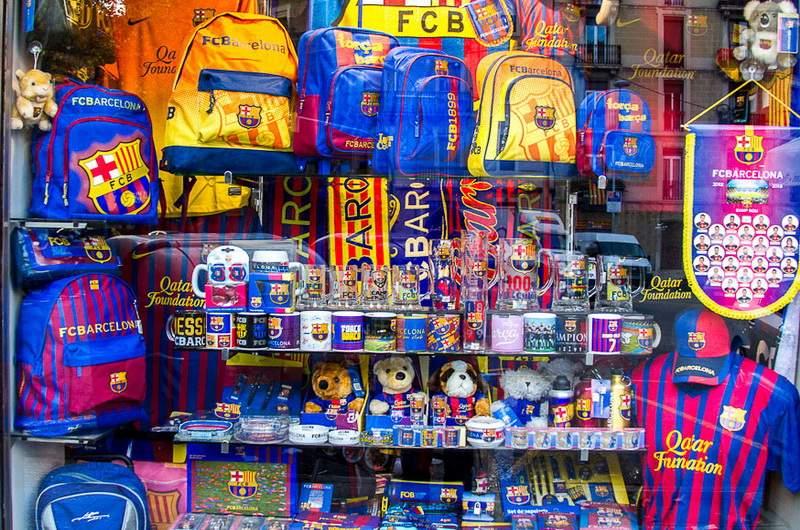 Магазин футбольной атрибутики в Испании