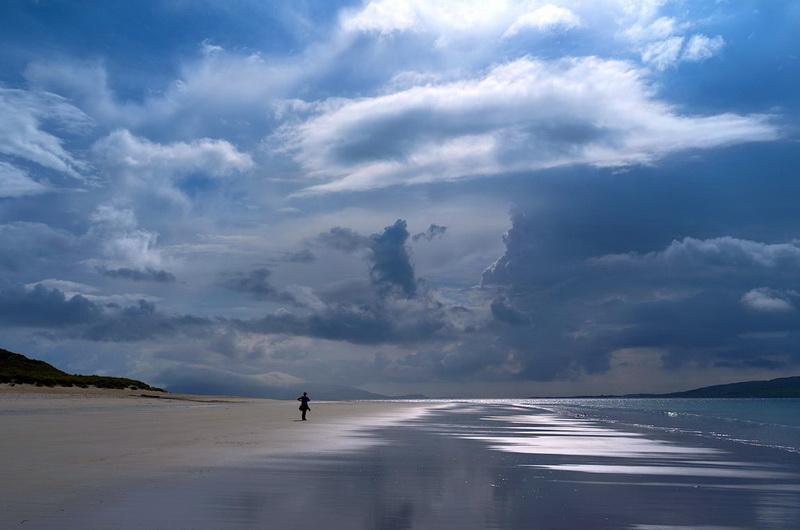 Пляж Ласкентайр (Luskentyre) на острове Гаррис